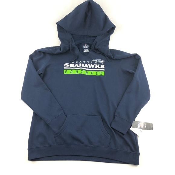 NWT Seattle Seahawks Womens V Neck Hoodie Sweater NWT